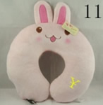 U shaped Plush rabbit neck pillows