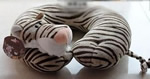 U shaped Plush tiger neck pillows