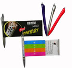 Banner Pen With Solid Colored Barrel And Matching Colored Grip