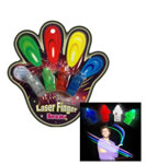 Colour Laser Finger LED party light beams ring torch