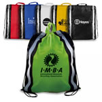 Non Woven Drawstring Bag With Reflective Stripes