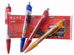 Plastic Banner Pen With Transparent Barrel