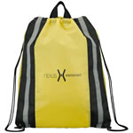 Reflective Stripes Drawstring Bag